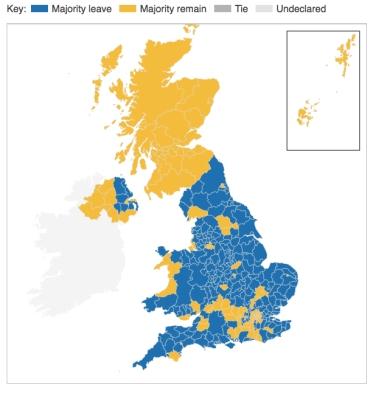 Brexit map